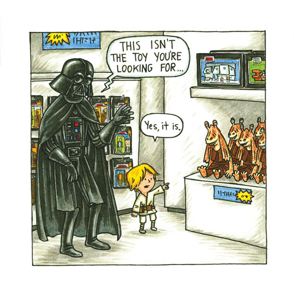 Vader and toy